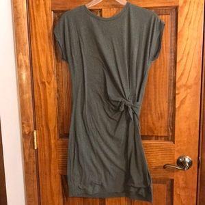 Aerie tie-waist tee shirt dress in olive